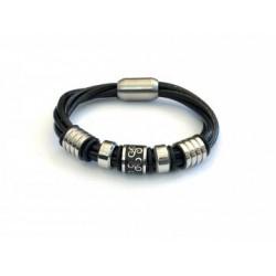 Bracelet cuir aimanté triskel