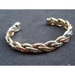 Bracelet cuivre 3 couleurs aimanté