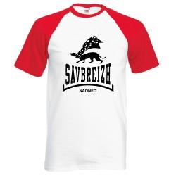 T-shirt base ball homme rouge Savbreizh noir