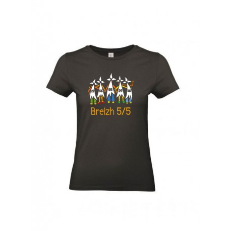 Tee-shirt Breizh 5/5  noir