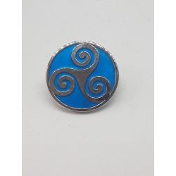 Pin's triskel bleu