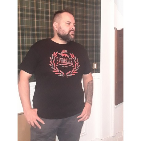 T-shirt Savbreizh laurier tartan rouge