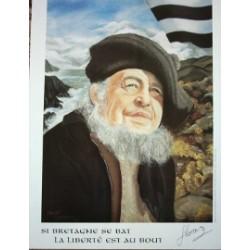 Poster Glenmor : Si Bretagne se bat...