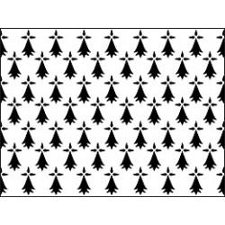 drapeau champ d'hermine plein 60*90 cm