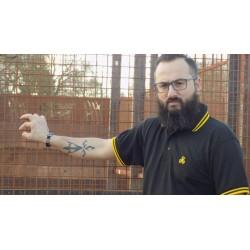 Polo Savbreizh noir/jaune triskell