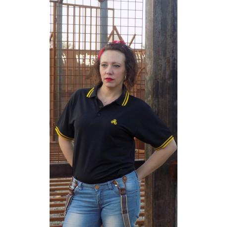 Polo SavBreizh logo noir/jaune